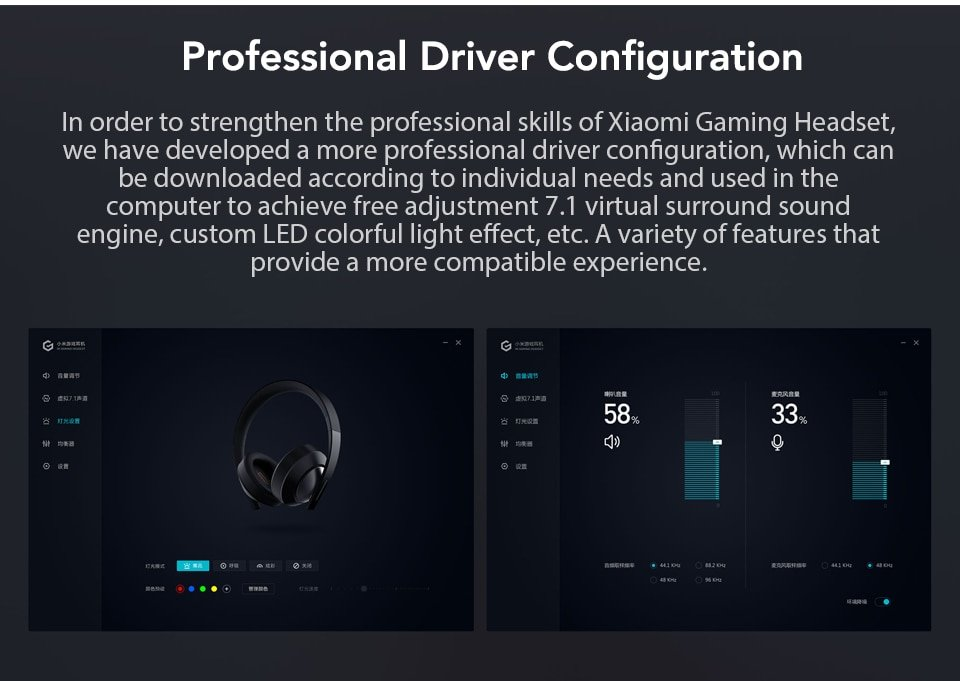Xiaomi Gaming Headset 7.1 Surround Sound Grephene LED Headphone With Double Mic Noise Reduction Heavy Bass Stereo for PC (9)