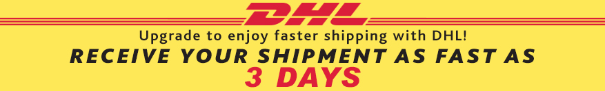 Faster shipping - receive your shippment as fast as 3 days