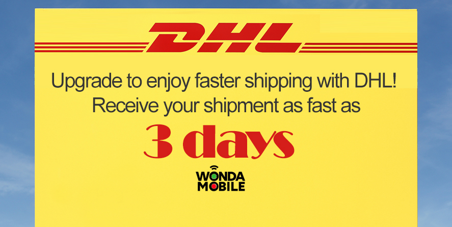 faster shipping with DHL