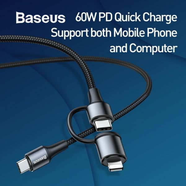 Baseus 2in1 Quick Charge PD Cable (Type C / Lighting)