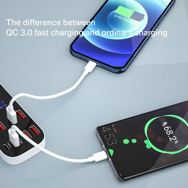 Slim 8 Ports USB Quick Charger Station QC3.0