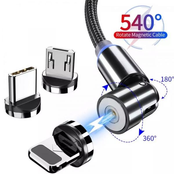 Magnetic Cable Type-C / Lighting / Micro USB 540 Degree