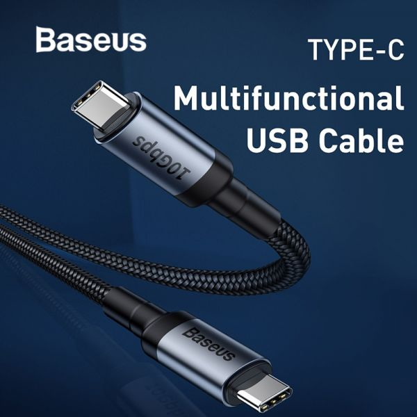 Baseus QC 3.0 USB Type C to Type C Cable Gen2 10Gbps Data Transmission Speed Fast Charging Cable
