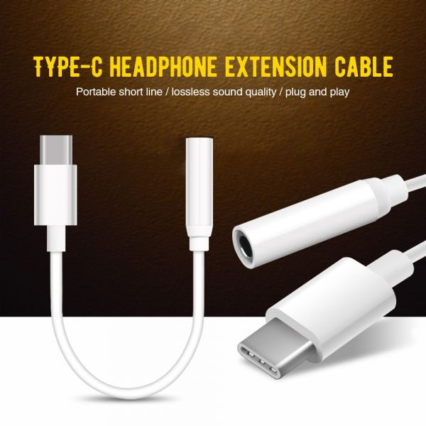 Type-C to 3.5mm Earphone cable Adapter