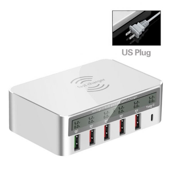 QI Wireless 3.0 / 6 USB Ports / 1 PD Charger-US