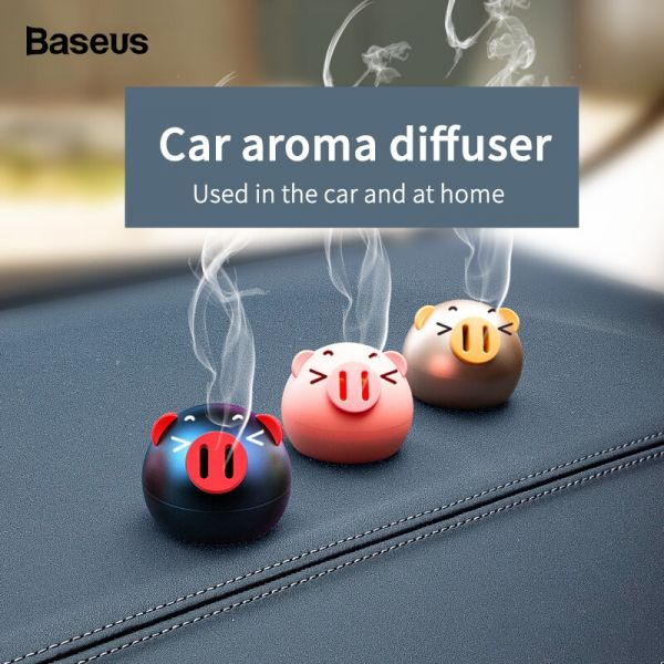 Baseus Mini Metal Car Air Freshener For Dashboard Auto Air Outlet Aromatherapy Car Diffuser Solid Perfume Flavoring