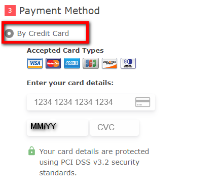 By Credit Card Payment