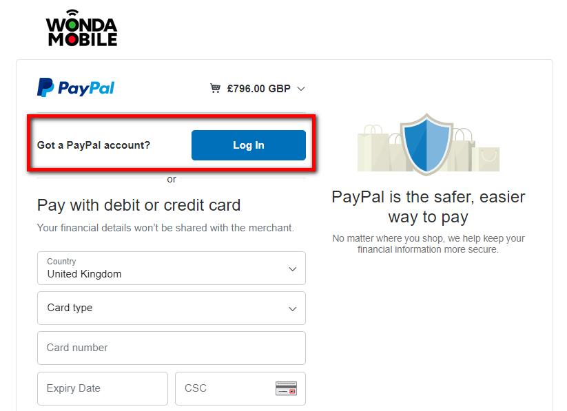 PayPal Login